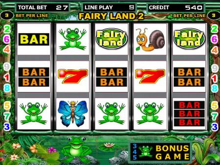Игровой аппарат Fairy Land 2 – денежные лягушата