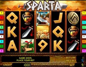 Игровой аппарат Sparta: описание, запуск и символы
