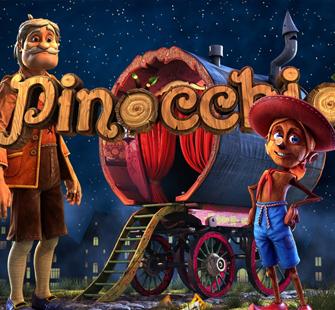 Описание игрового автомата Pinocchio по популярной сказке