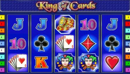 Варианты ставок в автомате King of Cards