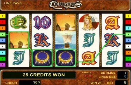 Самые прибыльные символы в игровом автомате Columbus