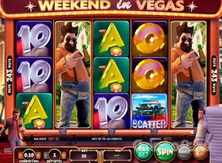 Режимы игры в автомате Weekend in Vegas из казино Азино777