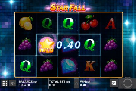 Характеристики видеослота Star Fall из игрового клуба Spin City