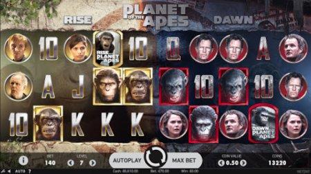 Основные качества автомата Planet of the Apes с сайта клуба Вулкан